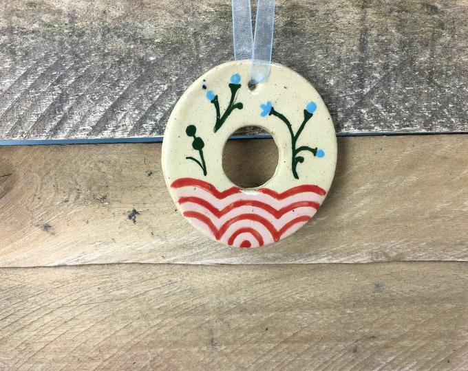 Ornament - O - Ceramic Initial - Alphabet Ornament / Monogram - READY TO SHIP