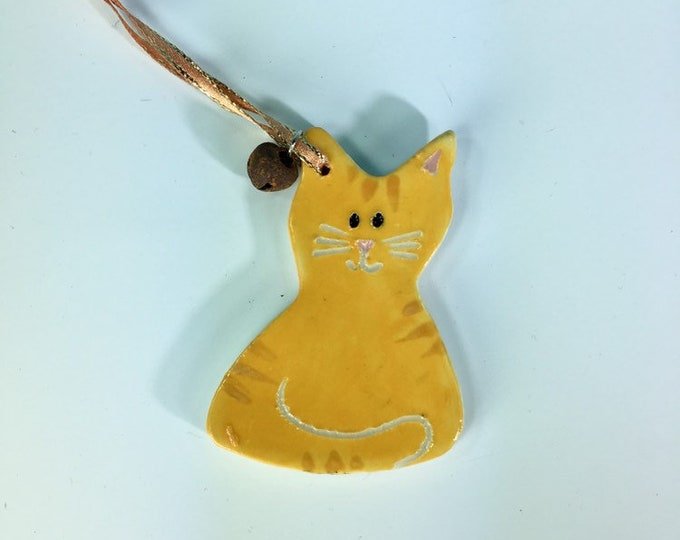 Cat Ornament - Personalize it! – Pet Gift / Christmas / Holiday / Ceramic Cat Ornament / Customized - READY TO SHIP