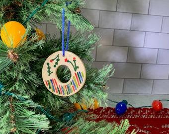 Ornament  N O & P - Ceramic Initials  / Alphabet Letter Ornament / Monogram - READY TO SHIP