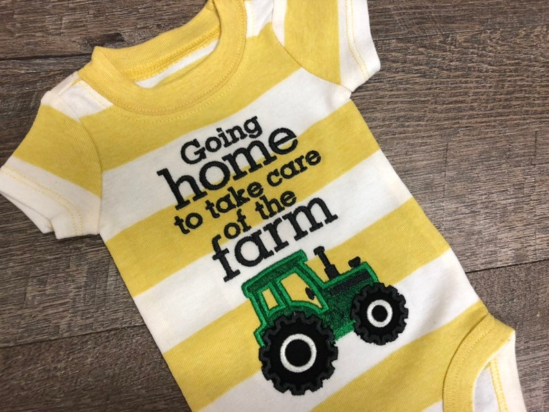 92d907d4f Going home to take care of the farm onesie Gray Farm Kid | Etsy