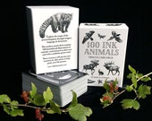 100 INK ANIMALS oracle deck - Animal Kingdom Oracle Tarot Modern Card Deck Non-Binary Cartomancy Divination Symbolism Monochromatic