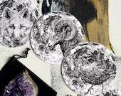 Full Moon Divination Cards - Circular Altar Cards - Full Moon Names - Card Reading Oracle Tarot -