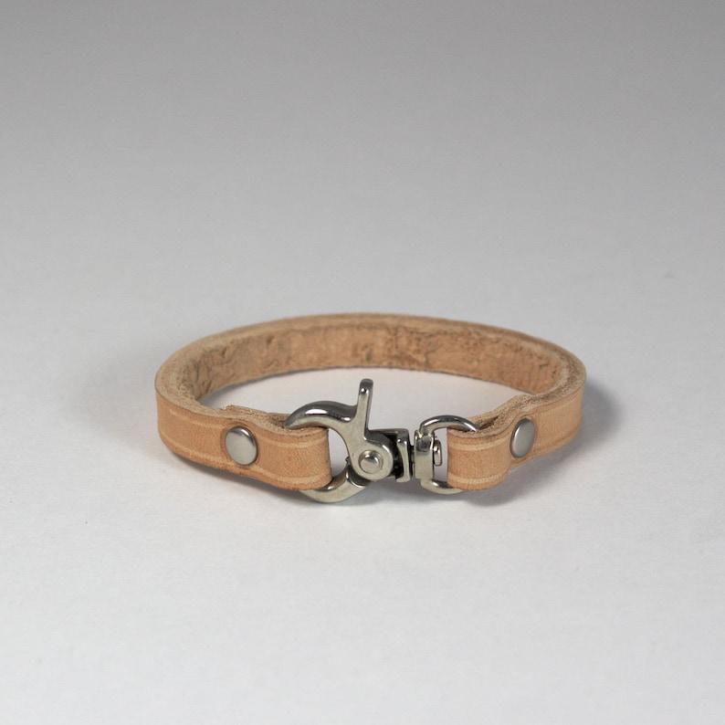 handmade leather Leather wrist cuff leather wrist band Australia bracelet nickel hardware natural Melbourne cuff wrist band