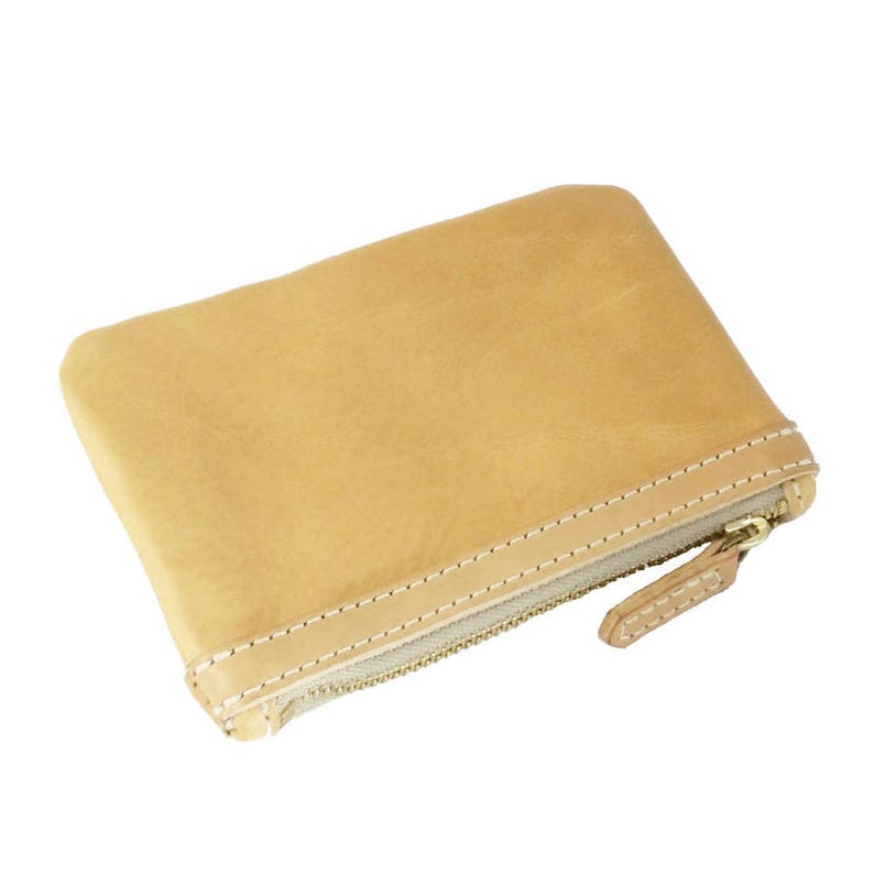 milled leather leather purse Melbourne leather coin purse coin purse handmade Australia brass hardware