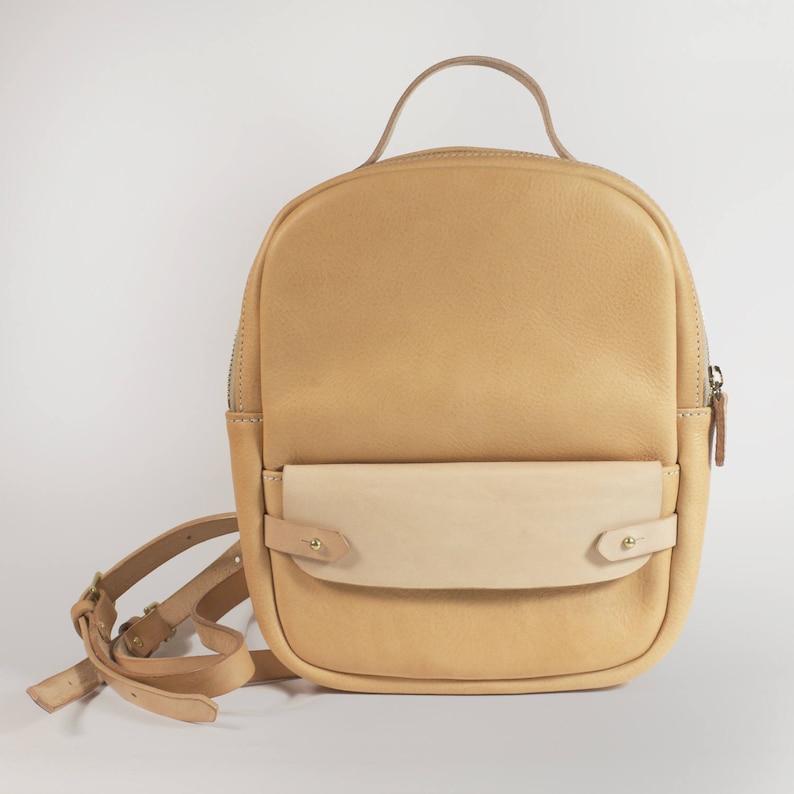 38349f9bf4394 Naturalny plecak skórzany mały plecak plecak torba | Etsy