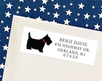 Personalized Labels Scottish Terrier Dog Address Sticker Labels I love my dog - Home Sweet Home