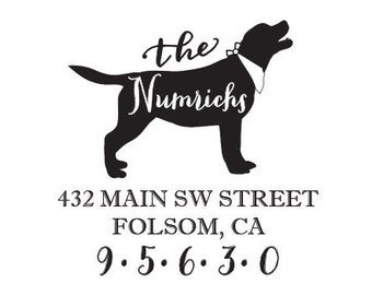 Yellow Labrador dog rubber stamp WM P7