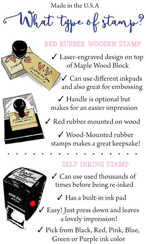 Simple Classic Personalized Custom Return Address Rubber Stamp or Self Inking Simple Minimalism Address Stamo