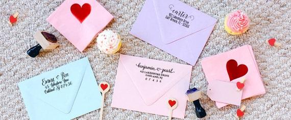 Tampon adresse tandem / personnalisé tampon personnalisé adresse de papeterie retour / papeterie de cadeau vélo Tandem panier Home Sweet Home 285d15
