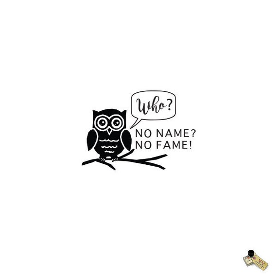 Custom Self Inking Personalized name envelope return address owl rubber stamp