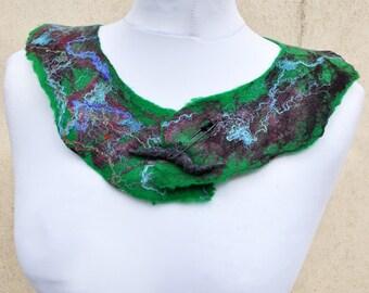 BIG SALE - Felted necklace, collar, fibre art, gift