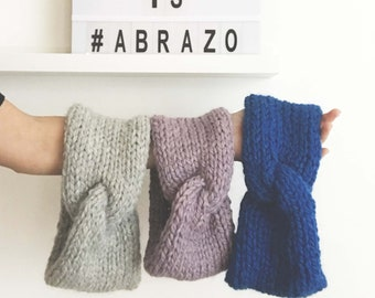 Abrazo | Hand Knit Turban | Chunky Knit Turban | Soft Baby Alpaca Merino Wool | Winter Headband | Warm Women Turban | Custom Color Turban