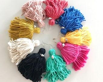 Maxi Tassels Earrings   Peruvian Style   Cotton Earrings   Customizable Product   Light Earrings   Mother's Day