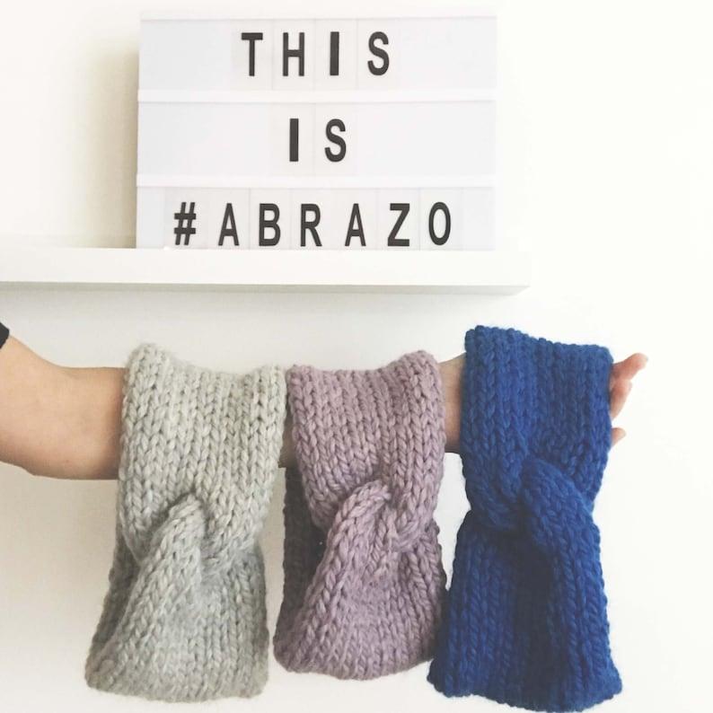 Abrazo  Hand Knit Turban  Chunky Knit Turban  Soft Baby image 0