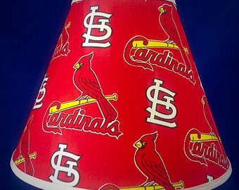 Cardinals lamp etsy st louis cardinals lamp shade mozeypictures Choice Image