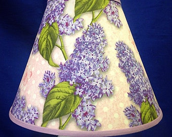 Lilac Flower Lamp Shade