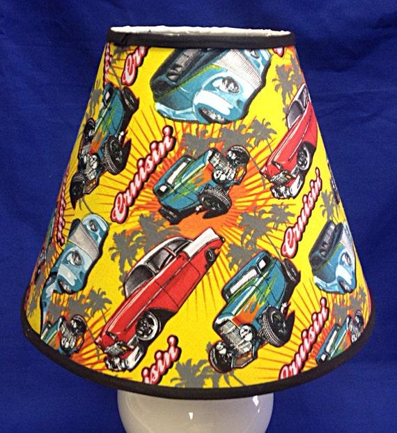 Cruisin vintage retro cars lamp shade etsy image 0 aloadofball Choice Image