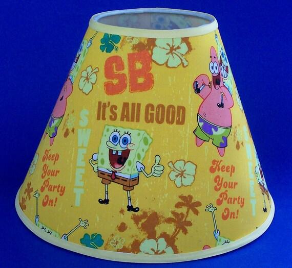 Spongebob lamp shade lampshade etsy image 0 aloadofball Choice Image
