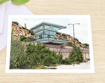 Tower 36 4x6 Greeting Card with Envelope