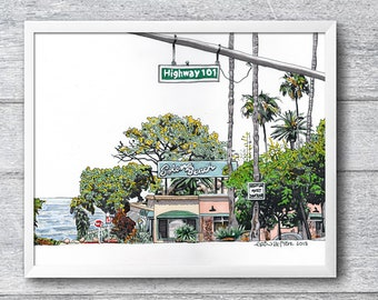 Solana Beach 10x8 Signed Print