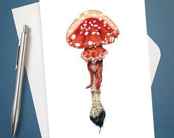Jellyshroom 4x6 Greeting Card with Envelope