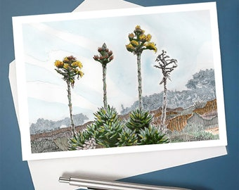 Torrey Pines State Reserve 6x4 Greeting Card with Envelope