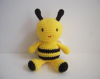 Crocheted Stuffed Amigurumi Bee