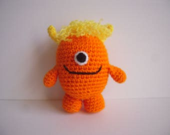 Crocheted Stuffed Amigurumi Monster