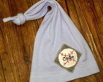 Newborn Hat - Personalized Baseball Hat - Cotton Hat - Newborn Hat - Newborn Photo Prop - Newborn Boy - Coming Home Set-Hospital Hat