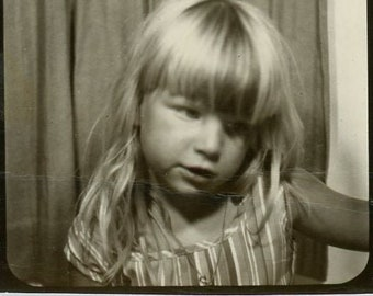 Little Tiny Treasure Vintage African American Photobooth Photo 58