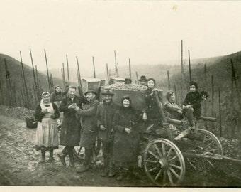 "Vintage Photo ""Wagon Gang"", Photography, Paper Ephemera, Antique, Snapshot, Old Photo, Collectibles - 0044"