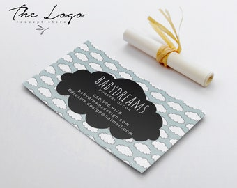 Business Card Scandinavian Design Calling Cloud Cards Modern Call Printable Kids