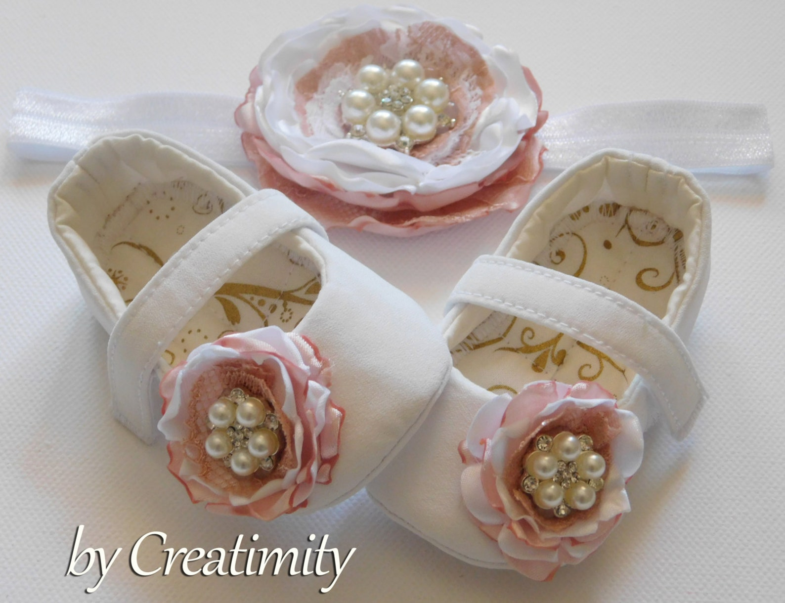 flower girl shoes crib shoes baby shoes ballet shoes baby gift bridal flats white shoes girl flats baptism shoes baby shower