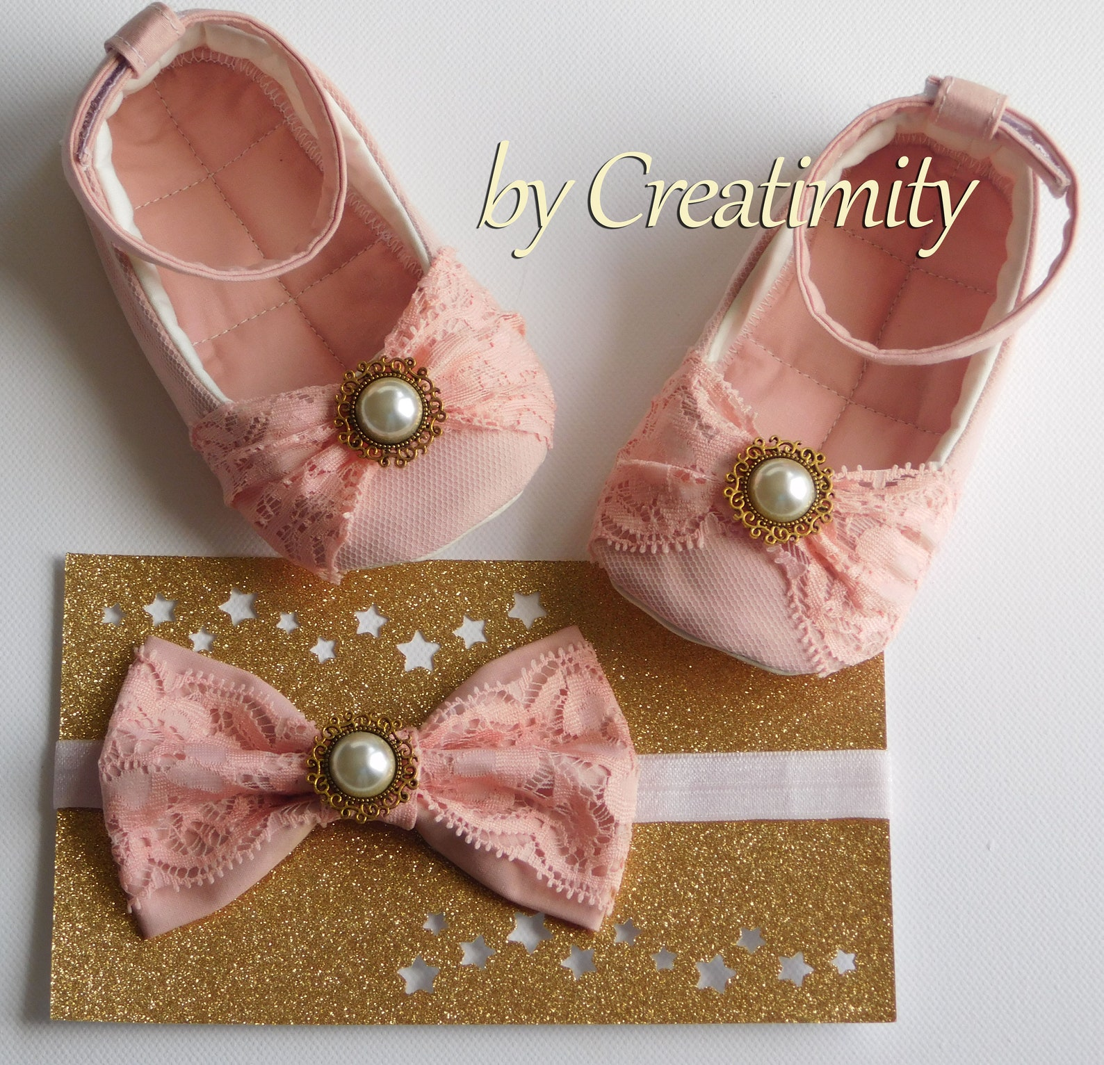 baby shoes salmon pink shoes baby gift baby shower soft shoes white girl ballet flats baby headband