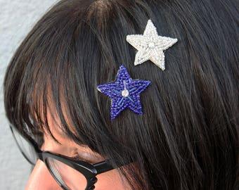 Silver Tiny Star Beaded Hairlip