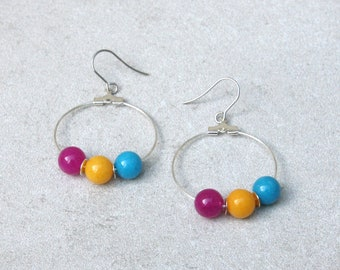 Pansexual Pride Earrings // Pride Collection // Inclusion, Rainbow, Sexuality, LGBTQ // Gift for Her // Gift for Him // Gift for Them