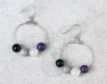 Asexual Pride Earrings // Pride Collection // Inclusion, Rainbow, Sexuality, LGBTQ, Queer // Gift for Him // Gift for Her // Gift for Them