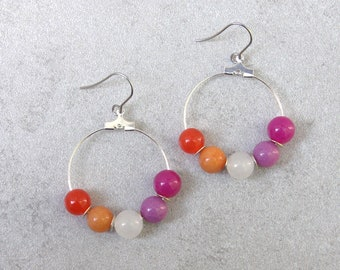 Lesbian Pride Earrings // Pride Collection // Inclusion, Rainbow, Sexuality, LGBTQ, Queer // WLW // Gift for Her // Gift for Them