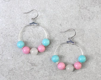 Transgender Pride Earrings // Pride Collection // Inclusion, Rainbow, Sexuality, LGBTQ // Gift for Her // Gift for Him // Gift for Them