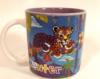 Hunter Mug/ 1990s Lisa frank/ leopard/ jaguar
