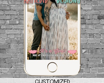 snapchat filter gender reveal touchdowns or tutus baby shower neutral twins football country rustic bunting banner geofilter   1431 Katiedid