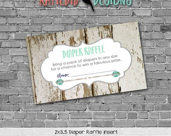 boy oh boy boho Tribal baby shower invitation diaper wipe brunch wood mint navy tribal arrows DIAPER RAFFLE TICKET 1238 katiedid designs