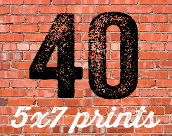 40 PRINTED INVITATIONS and white envelopes FREE shipping Katiedid Designs cards