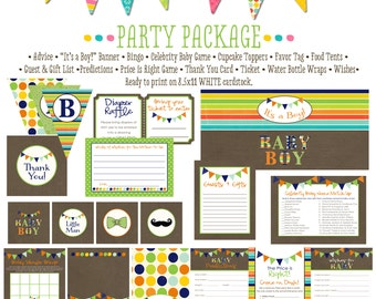 boy oh boy invitation rustic baby boy shower kraft paper rustic chic baby shower party package gender reveal party game 1232 katiedid cards