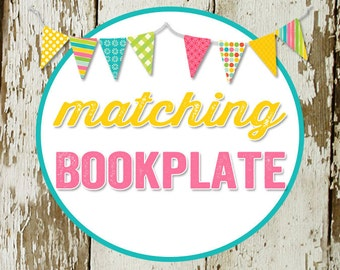 BOOKPLATE digital and printable file created to match your chosen invite katiedid designs cards