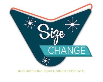 Extra Add-On, Design Upgrade, Size Change on Template