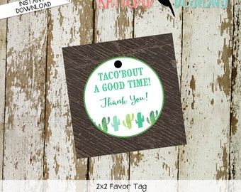 baby shower favor tags cactus taco bout thank you stock bar I do BBQ engagement party bridal wedding rehearsal dinner coed | 1494 katiedid