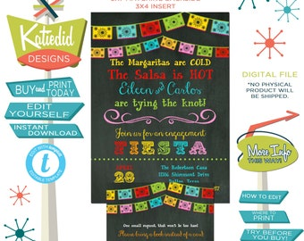 fiesta bridal shower invitation stock the bar I do BBQ engagement party adult birthday rehearsal dinner couples coed editable | 301 Katiedid