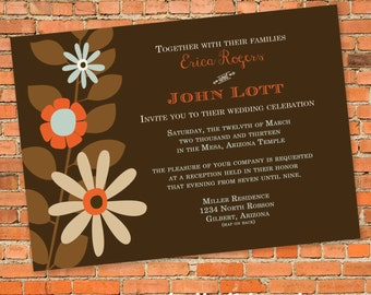 Couples shower Invitation floral stock the bar rehearsal dinner I do BBQ engagement party coed save the date postcard | 308 Katiedid Designs