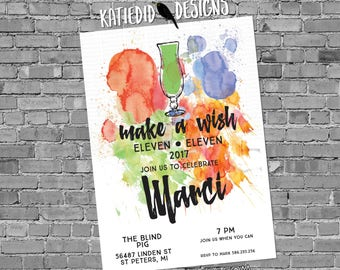 40th birthday invitation for women rehearsal dinner adults only retirement party stock the bar 30th 50th 60 watercolor gay | 1111 Katiedid